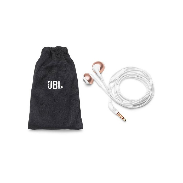 ECOUTEURS MICRO JBL T205 ROSE OR