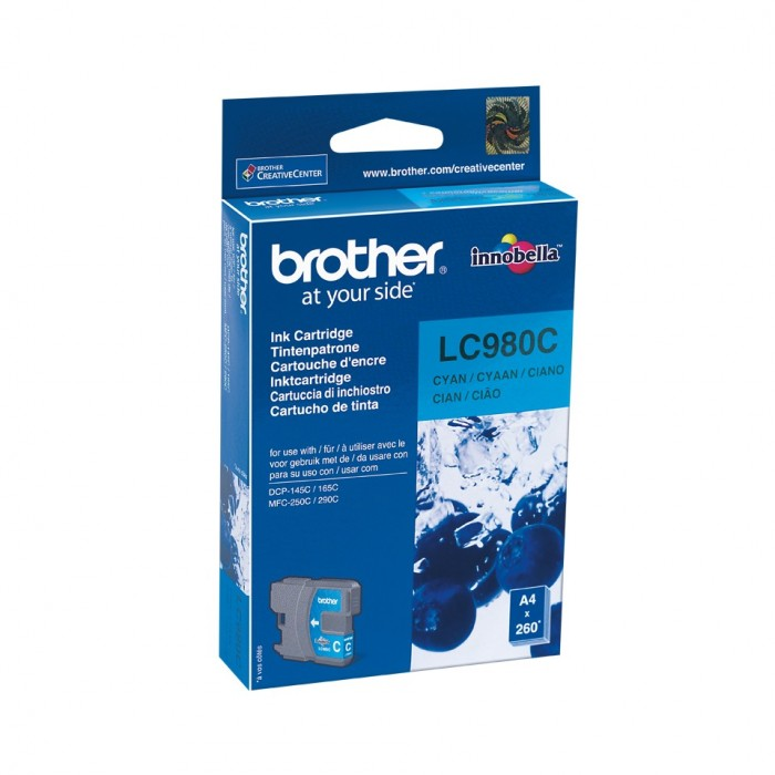 CARTOUCHE BROTHER LC980 CYAN