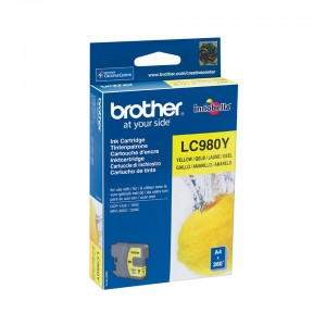 CARTOUCHE BROTHER LC980 JAUNE